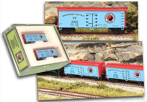 Full Throttle Z FTB9017-1 34' Woodside ICE Reefer Set #1, Northern Pacific (2-Pack)