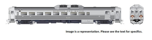 Rapido HO 16608 Budd Rail Diesel Car RDC-2 Phase Ic, Boston and Maine (Minuteman) #6204 (DCC and Sound Equipped)