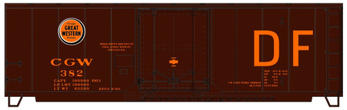 Accurail HO 3133 40' Plug Door Box Car Kit, Chicago Great Western (DF with Lucky Strike Logo) #382
