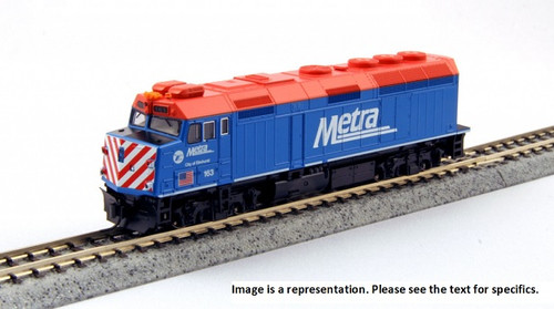 "Kato N 1769104 EMD F40PH with Ditch Lights, Chicago Metra ""City of Ravinia"" #142"