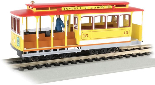 Bachmann HO 60538 Cable Car with Grip Man, Powell and Mason Streets #15
