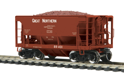 MTH HO 80-97034 70-Ton Center Discharge High Extension Ore Car, Great Northern #89401