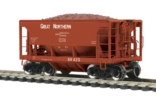 MTH HO 80-97036 70-Ton Center Discharge High Extension Ore Car, Great Northern #89420