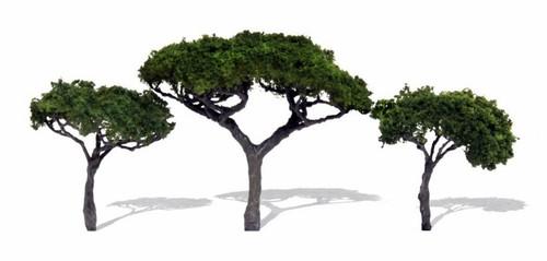 "Woodland Scenics TR3555 Canopy Trees, 2.3"" to 3.3"" (3)"
