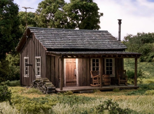 Woodland Scenics O BR5869 Built and Ready Rustic Cabin (Lighted)