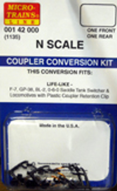 Micro-Trains N 00142000 (1135) Coupler Conversion Kit for Life-Like Locomotives (1 Front, 1 Rear)