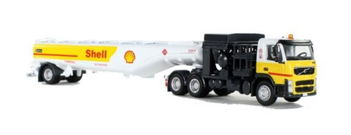 Iconic Replicas HO 87-0108 Volvo FM500 with Aviation Fueling Tanker, Shell Aviation