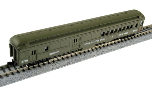 Model Power N 88641 Heavyweight Combine Car, United States Army (Kitchen and Mess Hall) #8770