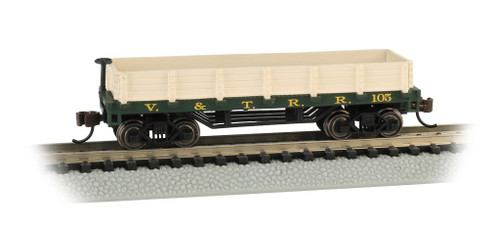 Bachmann N 15453 Old-Time Wood Gondola, Virginia and Truckee #105