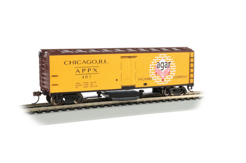 Bachmann HO 16331 Track Cleaning 40' Wood Reefer with Removable Dry Pad, Agar Packing Co. #401