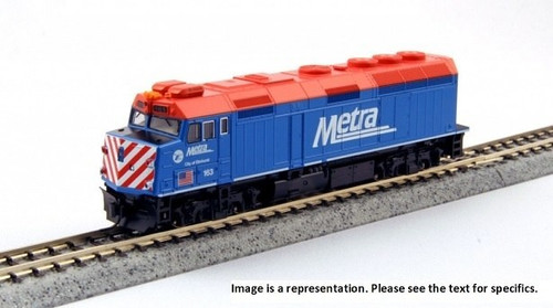 """Kato N 1769104-LS EMD F40PH with Ditch Lights, Chicago Metra """"City of Ravinia"""" #142 (DCC and ESU LokSound Equipped)"""