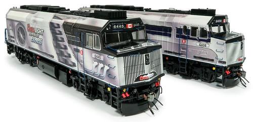 Rapido HO 80061 F40PH-2D Locomotive 2-Pack, Coors Light Silver Bullet Express #6408/6445
