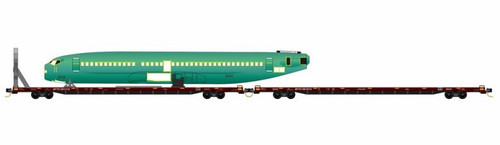 Micro-Trains N 99301782 89' Flat Car with Fuselage Load #2 (2-Pack)