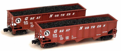 Full Throttle Z FT5007-1 Open 40' Ribbed 70-Ton Hopper Set #1, Great Northern (2-Pack)