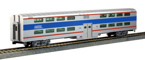 Kato HO 356038 Pullman Bi-Level 4-Window Coach, Chicago Metra #7780