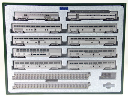 "Kato N 106084-1 Santa Fe ""El Capitan"" 10-Car Passenger Set (Kobo Shops Exclusive with Interior Lighting Installed)"