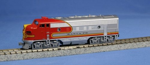 "Kato N 1762121 EMD F7A Diesel, Santa Fe Warbonnet ""Super Chief"" #300 (Dual Headlight, No Steam Generator)"