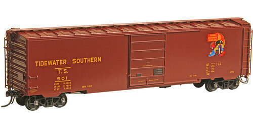 Kadee HO 6406 50' PS-1 Box Car, Tidewater Southern #501