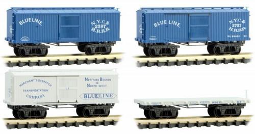 Micro-Trains N 99301800 Civil War Era 'Blue Line' Set (4-Pack)