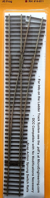 Micro Engineering HO 14-811 Ladder Track System Code 70 #5a Frog Turnout, Standard Right Hand
