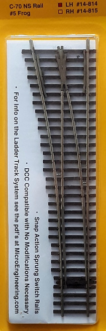 Micro Engineering HO 14-814 Ladder Track System Code 70 #5c Frog Turnout, Lead Ladder Left Hand