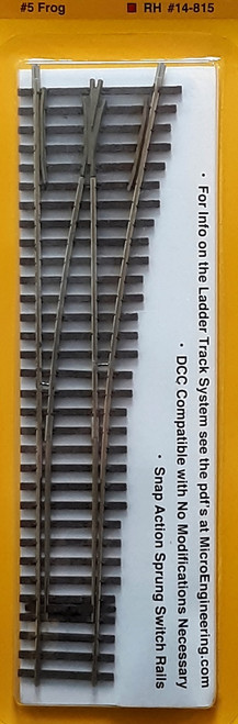 Micro Engineering HO 14-815 Ladder Track System Code 70 #5c Frog Turnout, Lead Ladder Right Hand