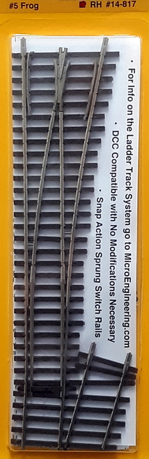 Micro Engineering HO 14-817 Ladder Track System Code 70 #5d Frog Turnout, Intermediate Ladder Right Hand