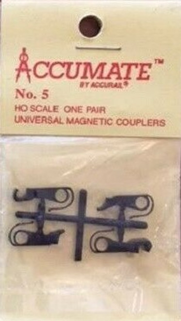 Accurail HO 5 Accumate No. 5 Universal Magnetic Couplers (1 Pair)