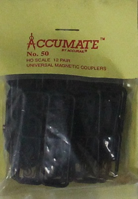Accurail HO 50 Accumate No. 50 Universal Magnetic Couplers (12 Pair)