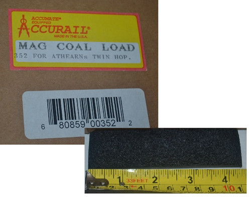Accurail HO 352 Magnetic Coal Loads with Tool for Athearn Twin Hoppers (48)