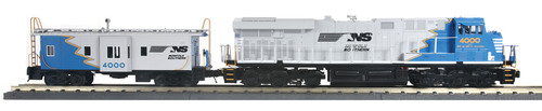 MTH RailKing O 30-20432-1 ES44AC Imperial Diesel and Caboose Set, Norfolk Southern #4000 (Proto Sound 3)