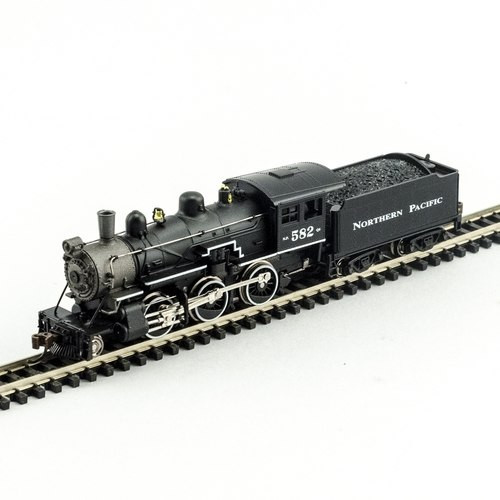Model Power N 876061 2-6-0 Mogul Steam Locomotive, Northern Pacific #582 (DCC and Sound Equipped)