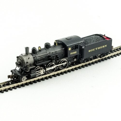 Model Power N 876101 2-6-0 Mogul Steam Locomotive, Southern #7082 (DCC and Sound Equipped)