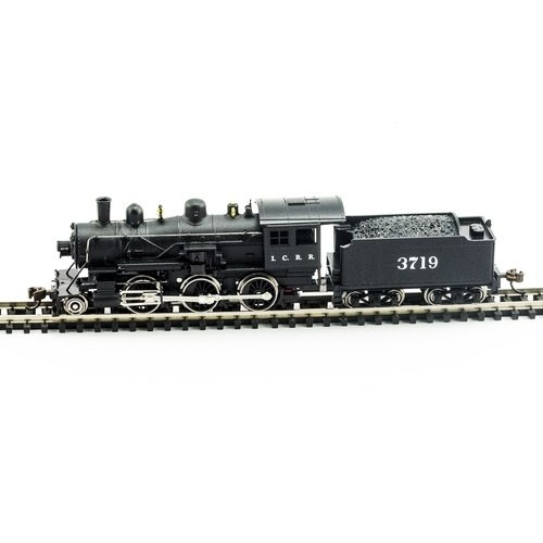 Model Power N 876181 2-6-0 Mogul Steam Locomotive, Illinois Central #3719 (DCC and Sound Equipped)