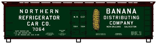 Accurail HO 4906 40' Wood Reefer Kit, Northern Refrigerator Car Company #7064