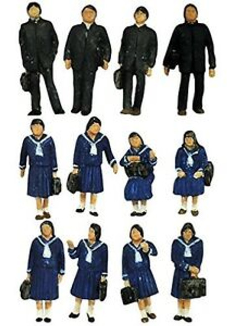 Tomix (TomyTec) N 266068 Students in Winter Uniform (12)