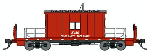 """Bluford Shops N 24421 Transfer Caboose with Short Roof, Great Northern """"Think Safety Work Safely"""" #X180"""