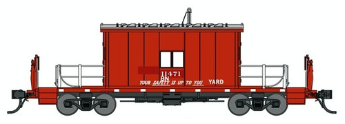 Bluford Shops N 24430 Transfer Caboose with Short Roof, Burlington Northern (Patched-GN) #11471