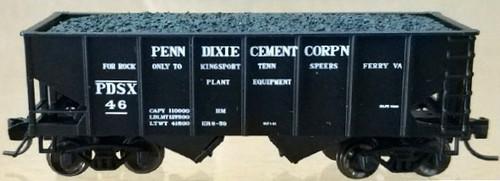 """Bluford Shops N 60441 USRA 30' 6"""" 2-Bay Hopper, Penn-Dixie Cement #46"""