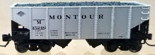 """Bluford Shops N 60491 USRA 30' 6"""" 2-Bay Hopper, Montour #15246"""