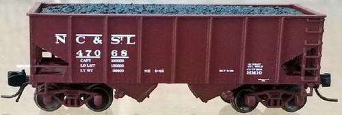 "Bluford Shops N 60502 USRA 30' 6"" 2-Bay Hopper, Nashville Chattanooga and St. Louis (2-Pack)"