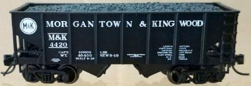 "Bluford Shops N 60512 USRA 30' 6"" 2-Bay Hopper, Morgantown and Kingwood (2-Pack)"