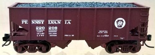 "Bluford Shops N 60532 USRA 30' 6"" 2-Bay Hopper, Pennsylvania Railroad (2nd Run) (2-Pack)"