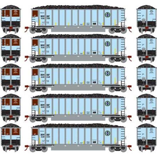 Athearn N 25004 Bethgon Coalporters with Load, Burlington Northern Santa Fe #1 (5)