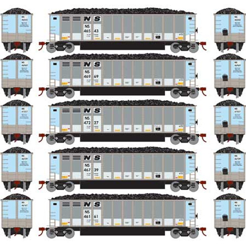 Athearn N 25016 Bethgon Coalporters with Load, Norfolk Southern #1 (5)