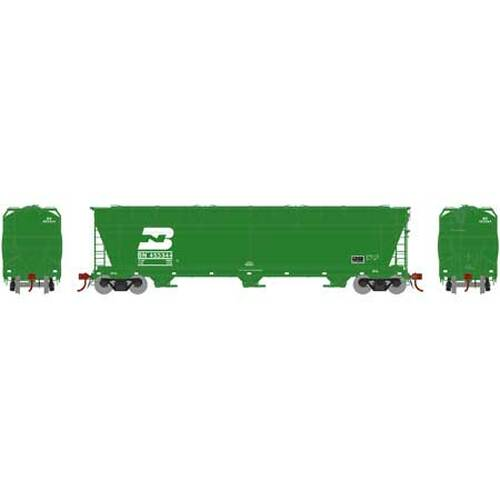 Athearn Genesis HO G15795 ACF 4600 3-Bay Centerflow Hopper, Burlington Northern #453344