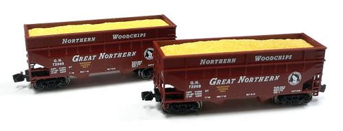 Full Throttle Z FT3408 Offset 2-Bay Woodchip Hopper Set #1, Great Northern (2-Pack)