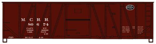 Accurail HO 4120 40' Wood Box Car Kit, Michigan Central #80674