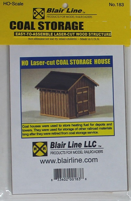 Blair Line HO 183 Coal Storage House Kit