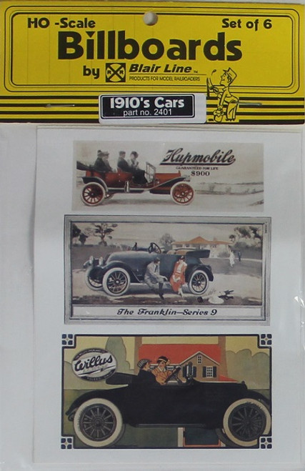 Blair Line HO 2401 1910s Billboards, Car Set 1 (6)